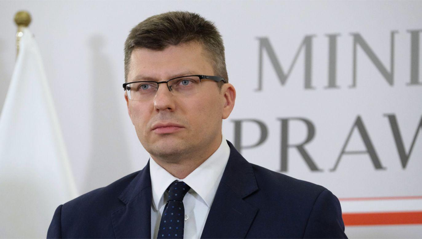 Wiceminister sprawiedliwości Marcin Warchoł (fot. PAP/Mateusz Marek)