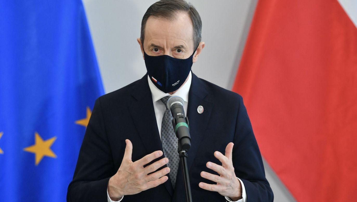 Marszałek Senatu Tomasz Grodzki (fot. PAP/Radek Pietruszka)