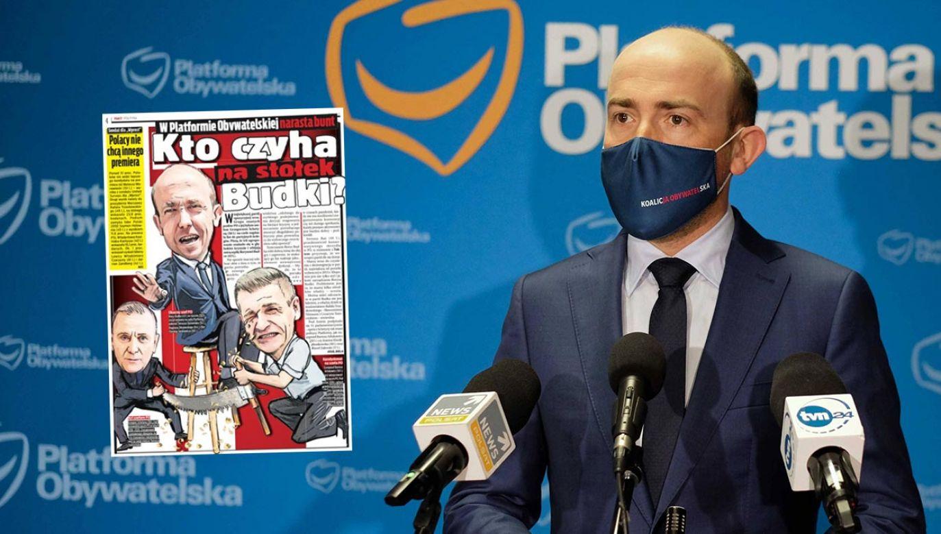 Trudna sytuacja wewnętrzna PO i kryzys przywództwa Borysa Budki (fot. PAP/Andrzej Grygiel)