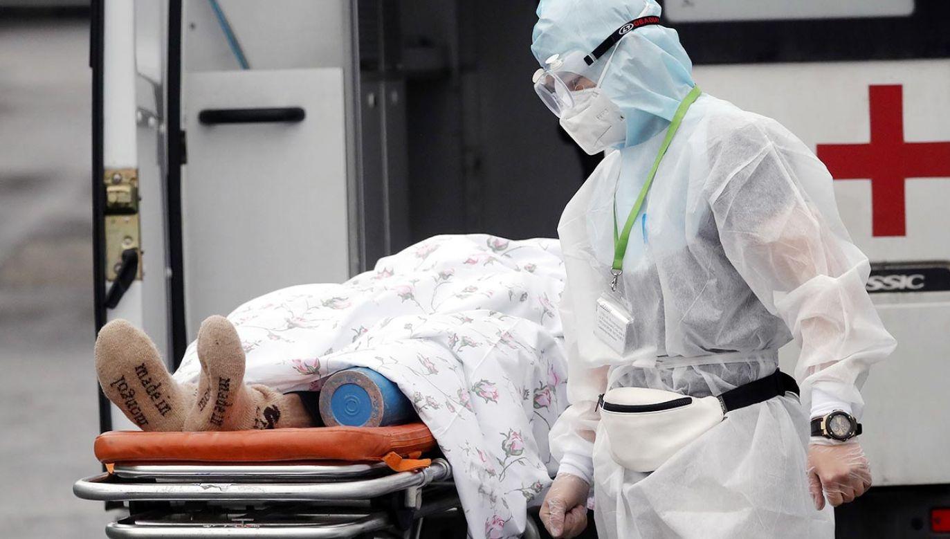 Sytuacja pandemiczna na Krymie jest dramatyczna. (fot. PAP/EPA/MAXIM SHIPENKOV)