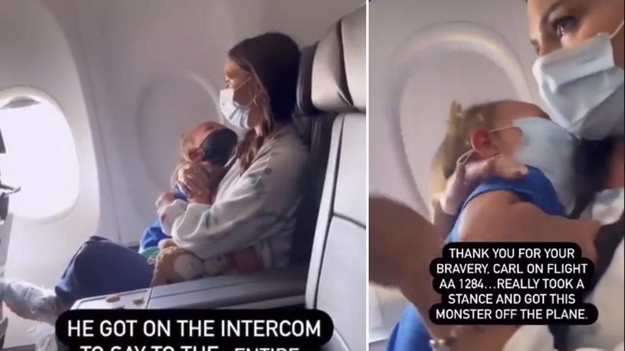 Incydent na pokładzie samolotu (fot. Facebook/manasaywhaa)