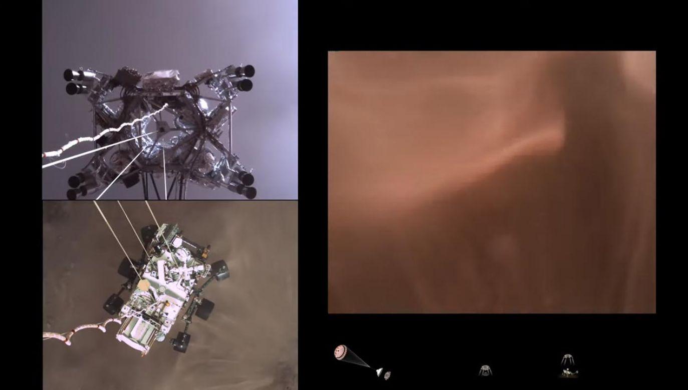 """Nagranie """"siedmiu minut grozy"""" – jak nazywane jest lądowanie na Marsie (fot. YouTube/NASA)"""