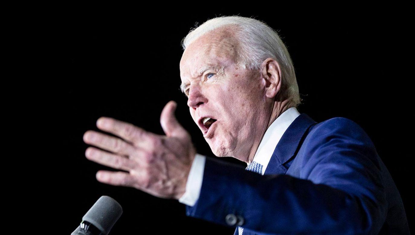 Kandydat Demokratów na prezydenta Stanów Zjednoczonych Joe Biden (fot. PAP/EPA/ETIENNE LAURENT)