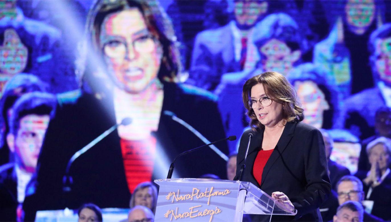 Małgorzata Kidawa-Błońska walczy o głosy (fot. PAP/Tomasz Gzell)