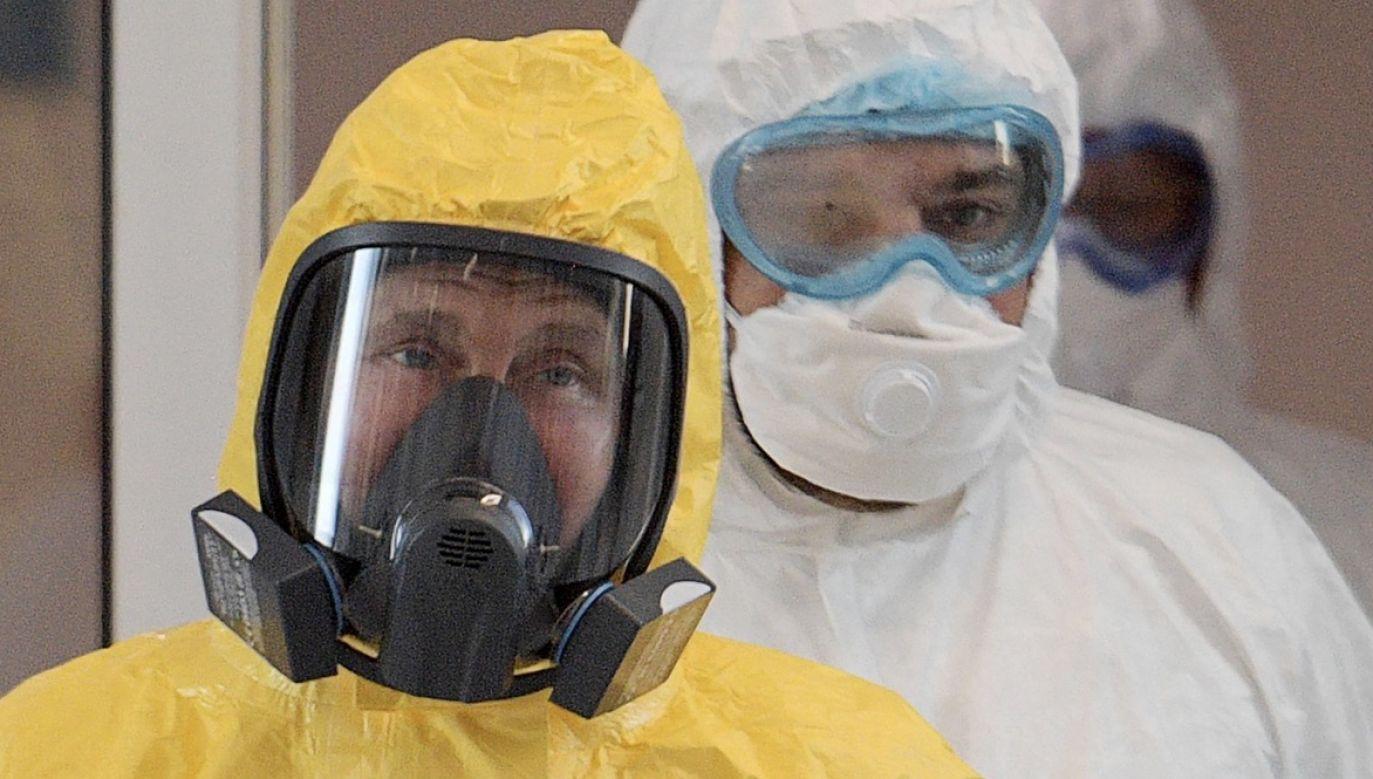 Putin wspomniał na naradzie, że szczepienie będzie dobrowolne (fot. arch.PAP/ITAR-TASS)