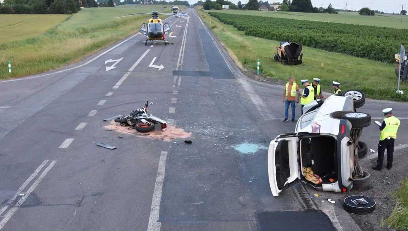 Śmiertelny wypadek w Krasnymstawie (fot. lubelska.policja.gov.pl)