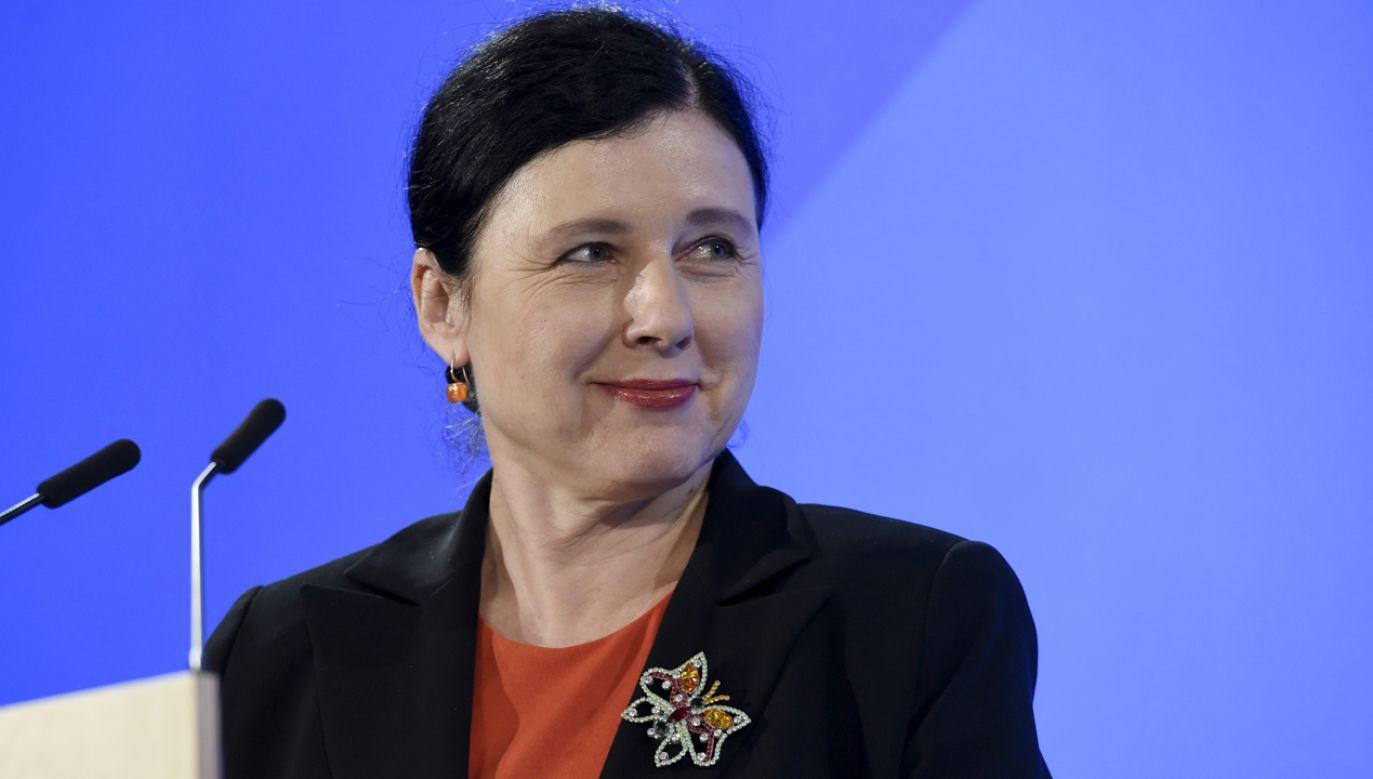 Vera Jourova spotka się między innymi ze Zbigniewem Ziobrą i Elżbietą Witek (fot. Reuters/Lehtikuva Lehtikuva)