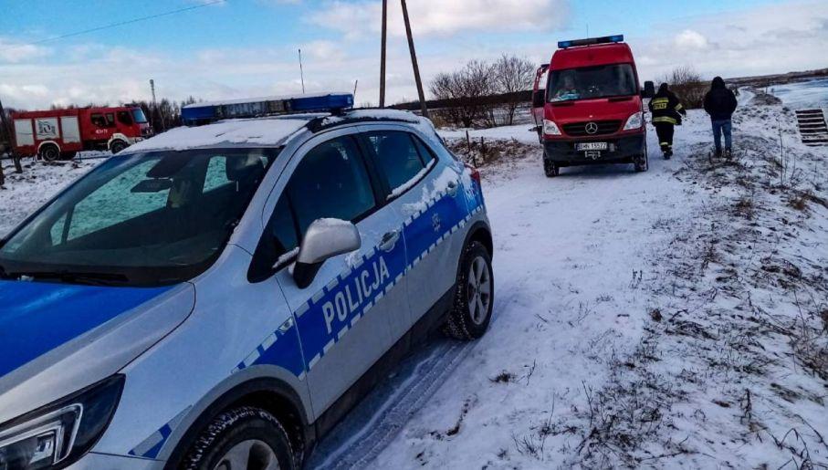 Na miejscu pracują służby (fot. KWP Białystok)