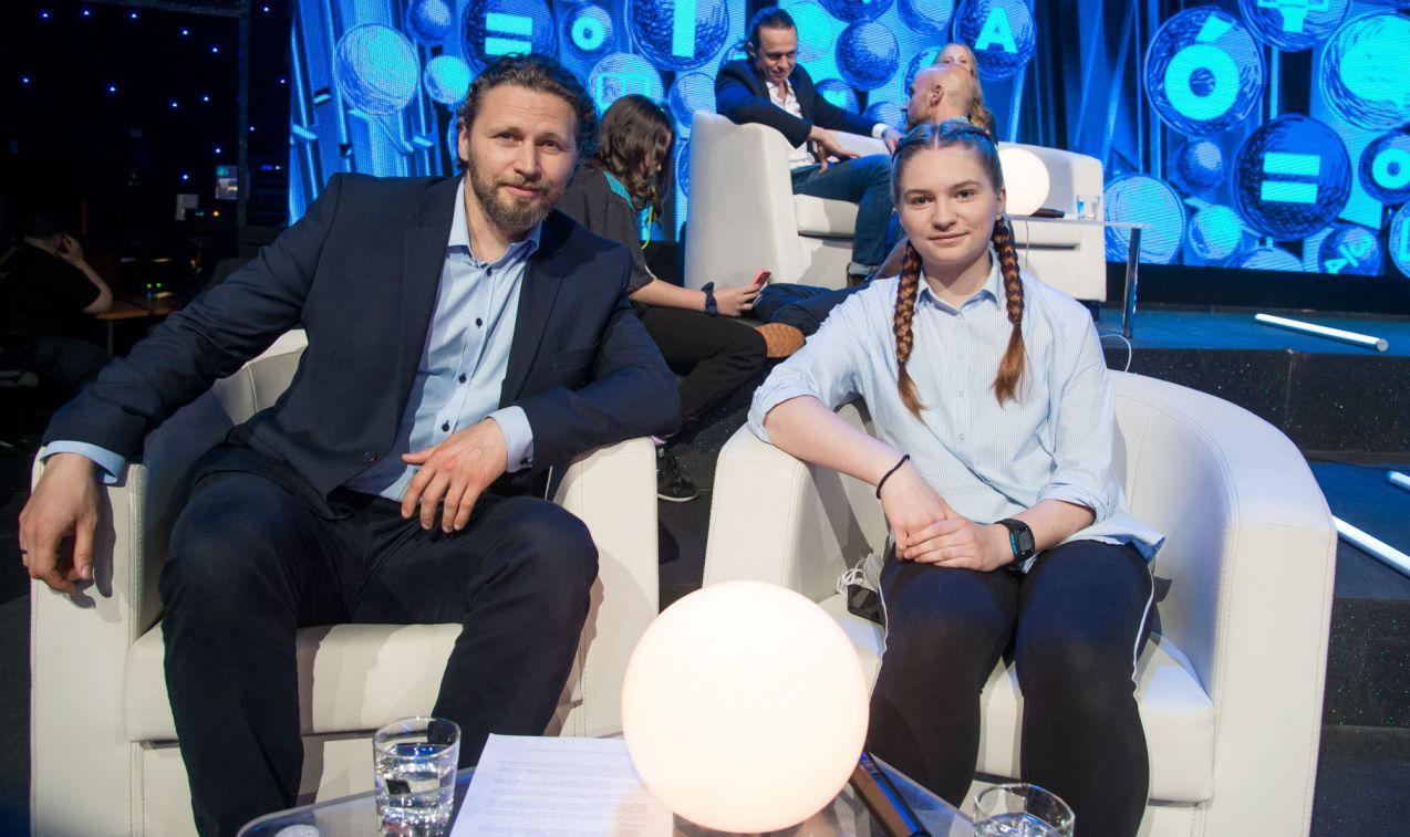 Michał Chorosiński z córką Matyldą (fot. Jan Bogacz/TVP)