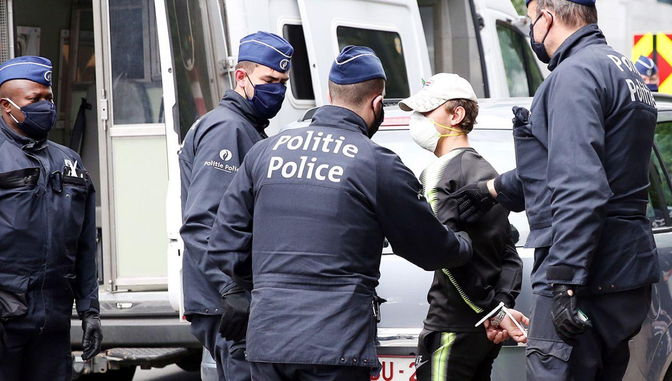Interweniowała policja (fot. Dursun Aydemir/Anadolu Agency via Getty Images)