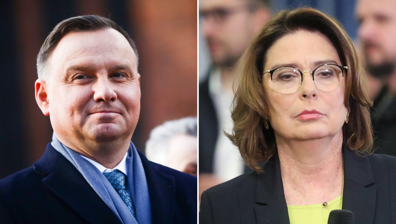 Nowy sondaż prezydencki (fot. Beata Zawrzel/NurPhoto via Getty Images, PAP/Roman Zawistowski)