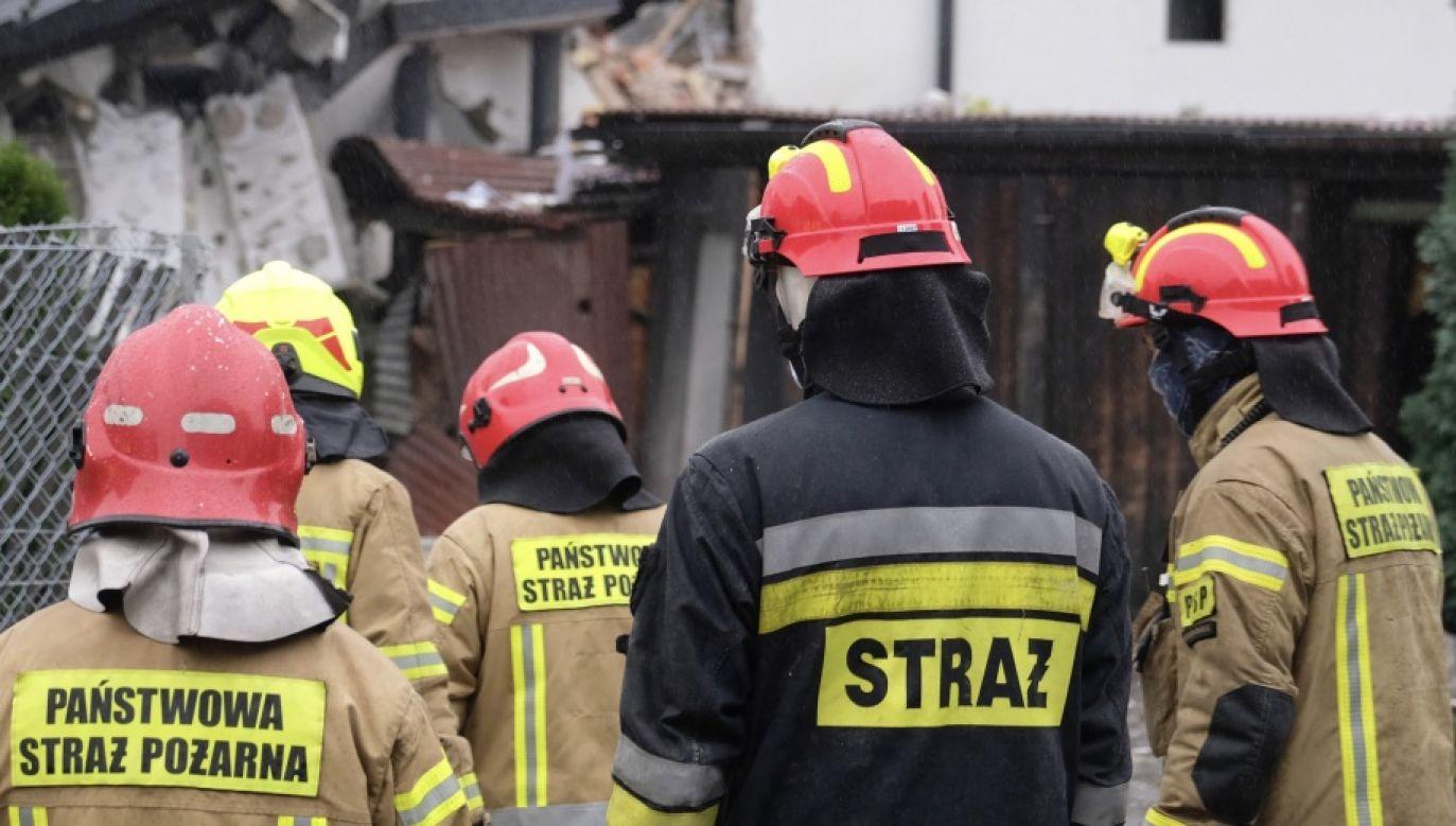 Paliły się materiały składowane w kotłowni domu (fot. PAP/Andrzej Grygiel, zdjęcie ilustracyjne)