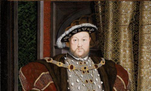 W kolczykach i innych biżutach lubował się Henryk VIII Tudor, co uwiecznił Hans Holbein. Fot. Wikimedia