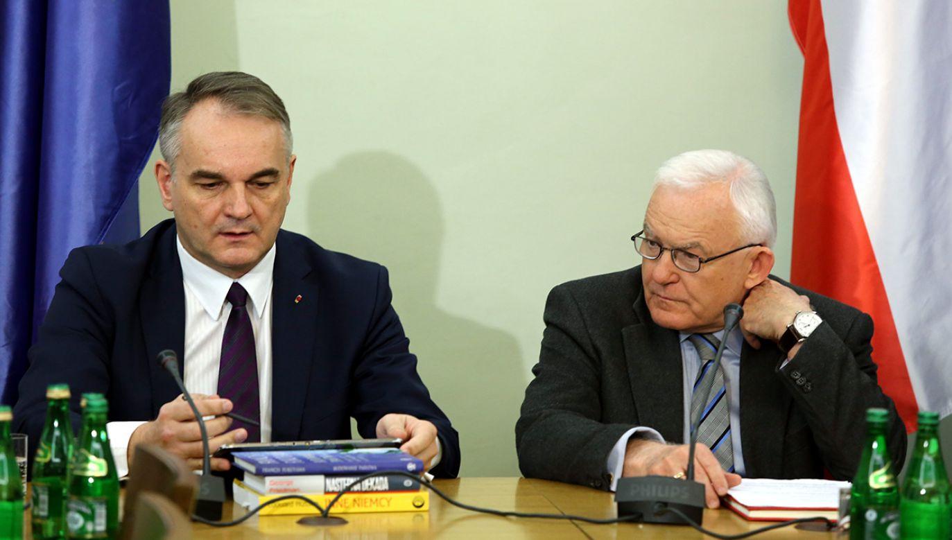 Waldemar Pawlak i Leszek Miller (fot. arch. PAP/Tomasz Gzell)