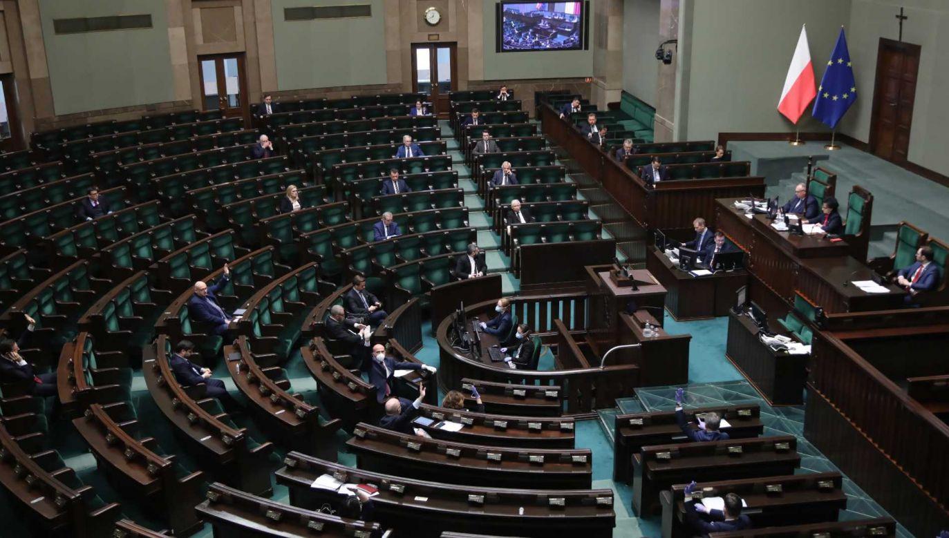 Nie wiadomo, kiedy Sejm mógłby zająć się projektem (fot. PAP/Wojciech Olkuśnik)