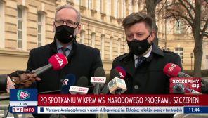 Adam Niedzielski i MichałDworczyk zdradzili kulisy rozmów w KPRM (fot. TVP Info)