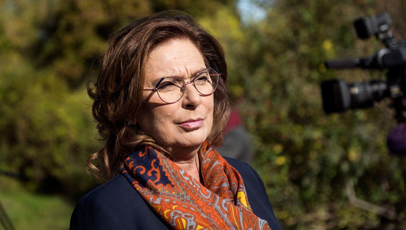 Trzeba zachęcić ludzi do optymistycznego myślenia – mówiła  (fot.  Attila Husejnow/SOPA Images/LightRocket via Getty Images)