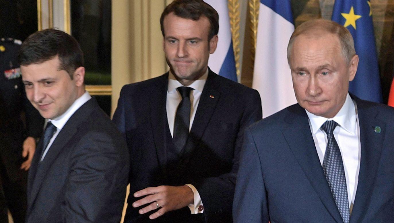 Wołodymyr Zełenski i Władimir Putin odbyli spotkanie dwustronne (fot. PAP/EPA/ALEXEI NIKOLSKY/SPUTNIK/KREMLIN POOL / POOL)