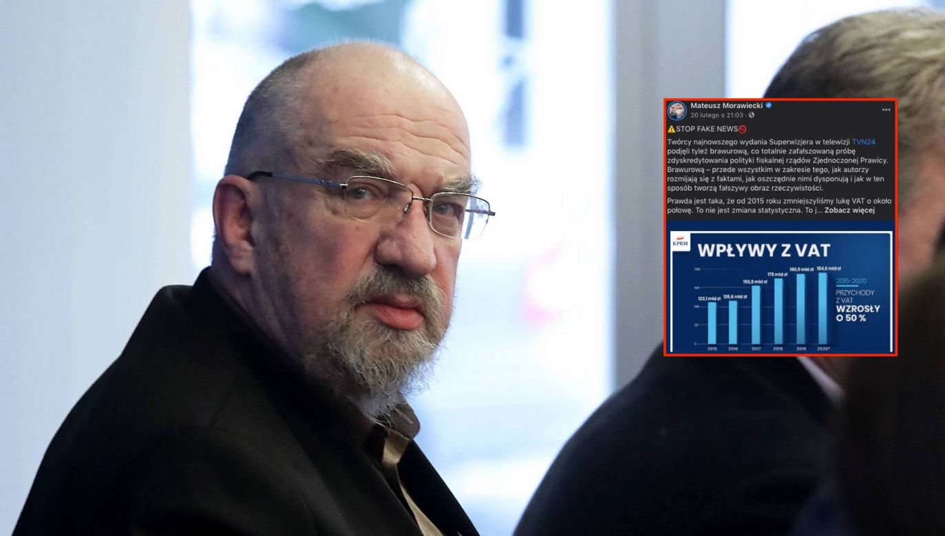 Prof. Witold Modzelewski o luce vatowskiej (fot. PAP/Tomasz Gzell)