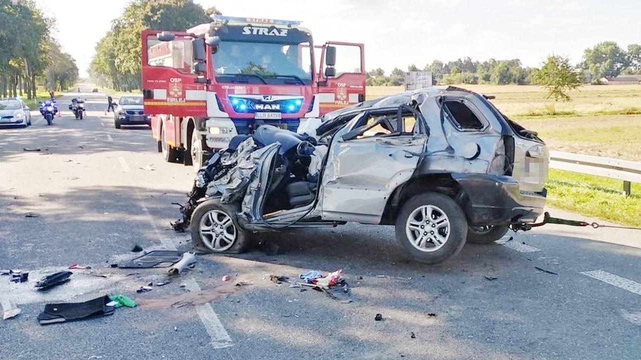 Śmiertelny wypadek w województwie lubelskim (fot. Policja)