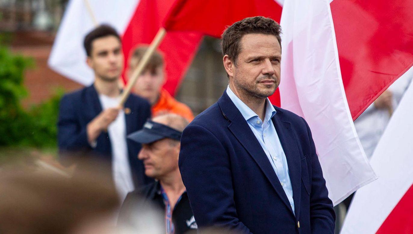 Trzaskowski mówił o swoim programie politycznym (fot. PAP/Jan Dzban)