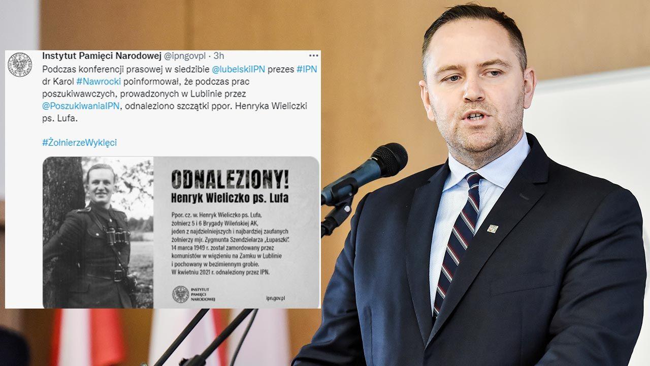 Pezes Instytutu Pamięci Narodowej Karol Nawrocki (fot. PAP/Wojtek Jargiło)