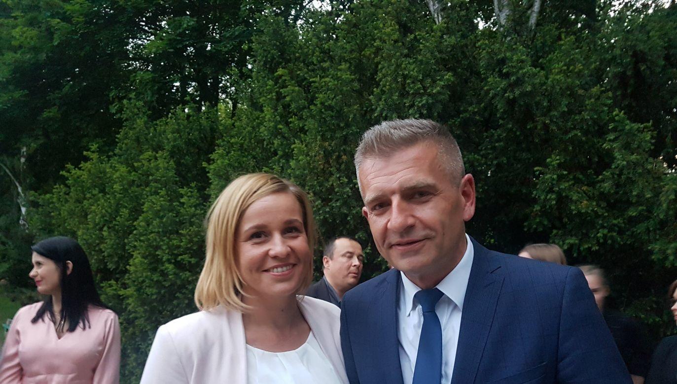 Magdalena Filiks and Bartosz Arłukowicz. Photo: Twitter/@FiliksMagdalena