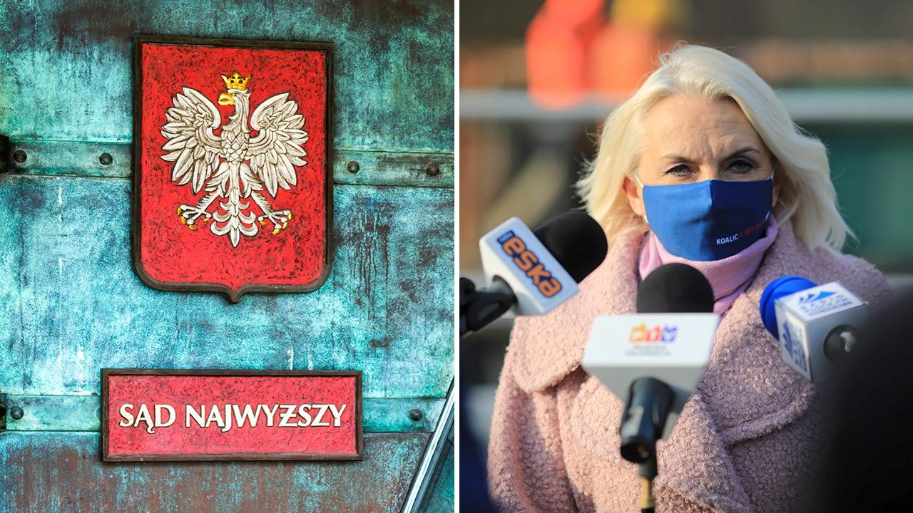 Elżbieta Gapińska o orzeczeniu Izby Dyscyplinarnej SN (fot. Shutterstock/Fotophoto; PAP/Szymon Łabiński)