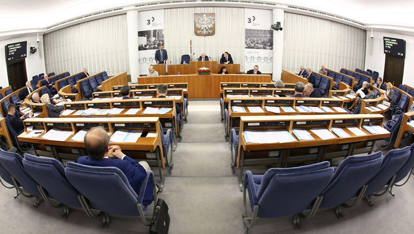 Marek Suski o sytuacji w nowym Senacie (fot. K. Czerwińska/Kancelaria Senatu)