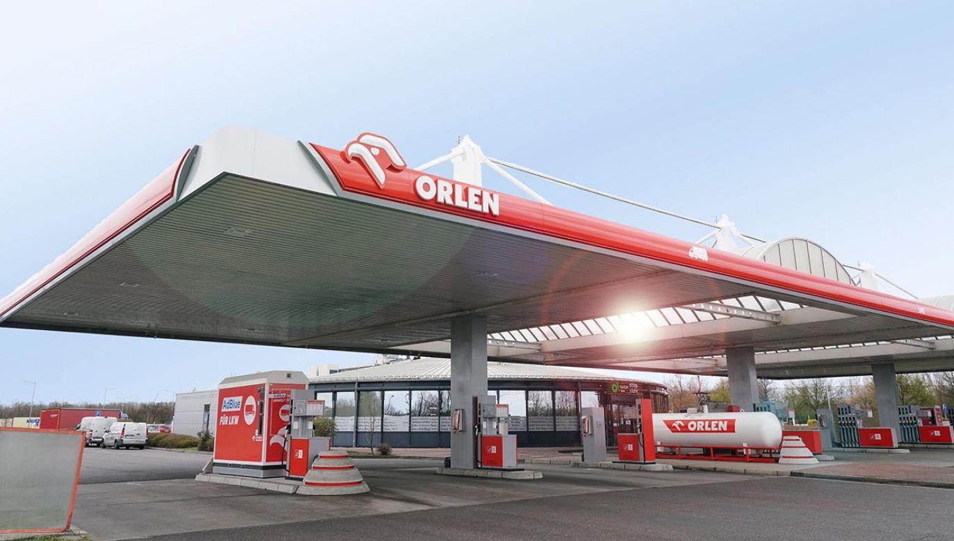 Stacja Orlen została otwarta na miejscu obsługi podróżnych Seeberg-Ost przy autostradowej obwodnicy Berlina (fot. Twitter/Orlen)