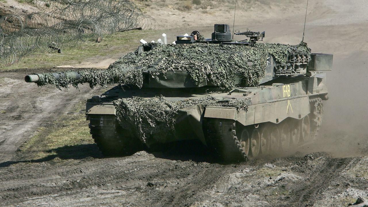 Taki model czołgów Holendrzy wyśląna Litwę (fot. Sean Gallup/Getty Images, zdjęcie ilustracyjne)