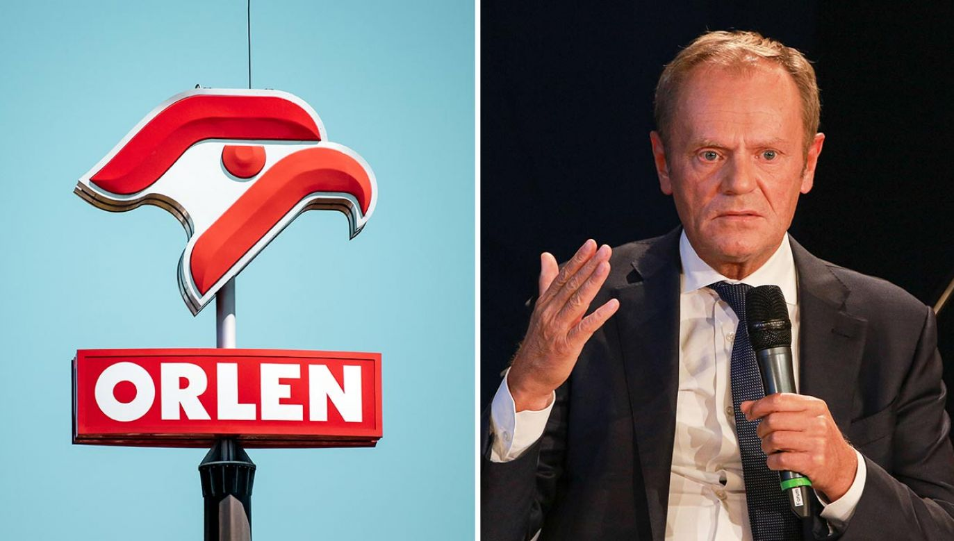 Tusk mówił o prezesie Orlenu w TVN (fot. SHutterstock/canon_photographer; Christian Marquardt - Pool/Getty Images)