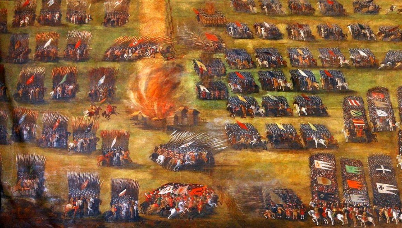 """Zwycięstwo w bitwie otworzyło Polakom drogę do Moskwy (""""Bitwa pod Kłuszynem"""", obraz Szymona Boguszewicza)"""