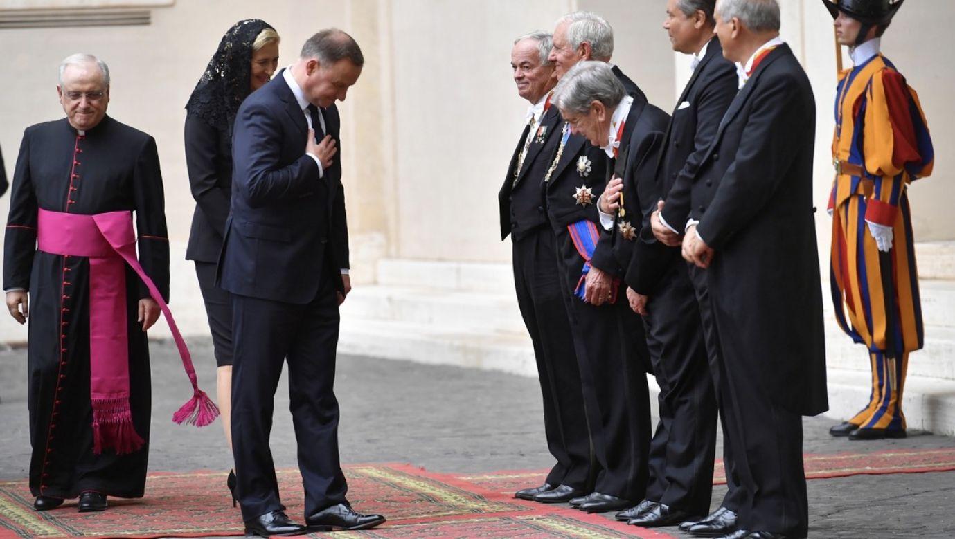 Spotkanie odbywa się w ostatnim dniu wizyty Andrzeja Dudy w Rzymie (fot. PAP/Piotr Nowak)
