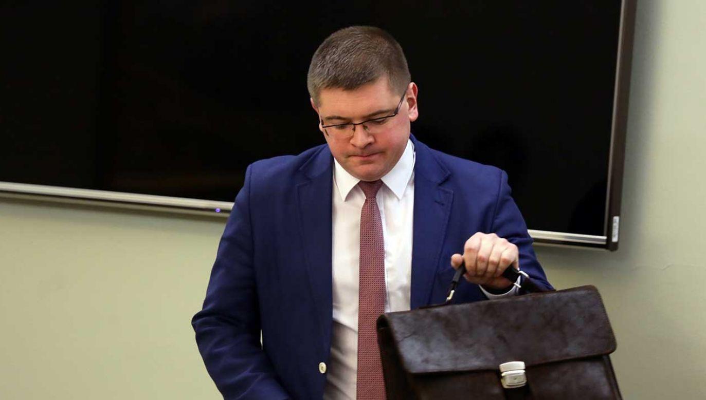 Poseł Tomasz Rzymkowski (fot. arch. PAP/Tomasz Gzell)