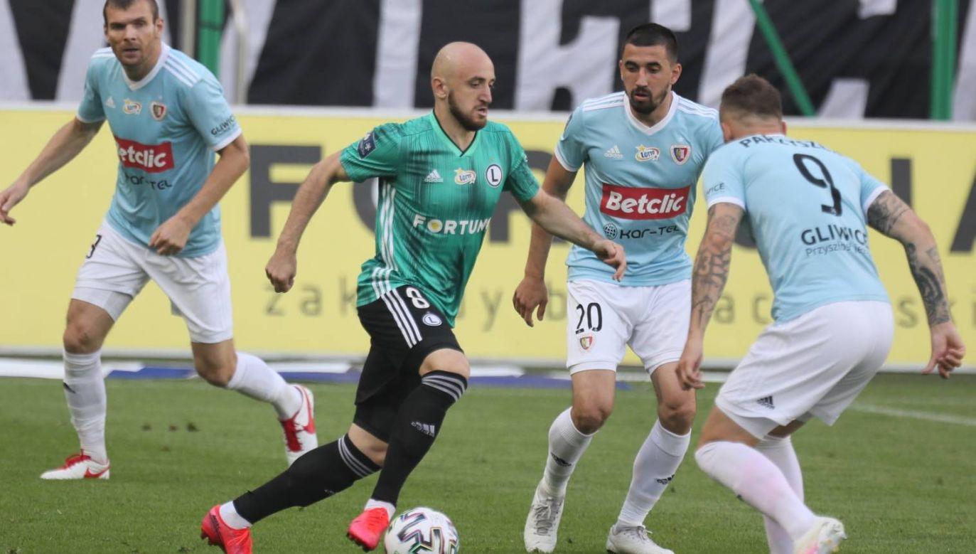 Mecz Legia Warszawa - Piast Gliwice podczas 33. kolejki Ekstraklasy (fot. PAP/Leszek Szymański)