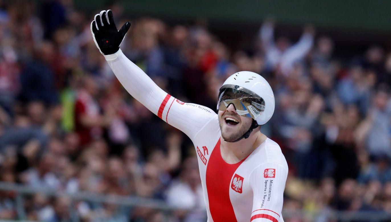 Tak z medalu wywalczonego w Pruszkowie cieszył się Mateusz Rudyk (fot. K. Pempel/Reuters)