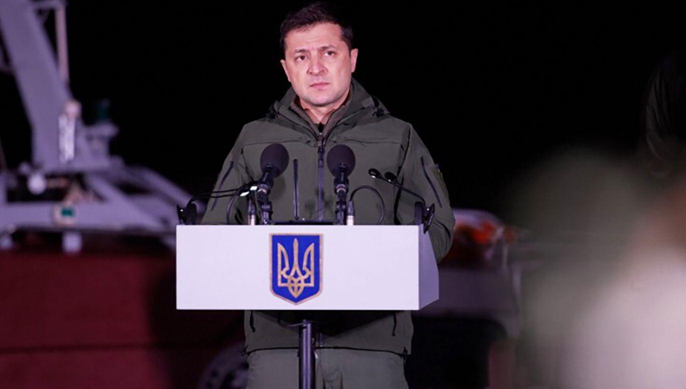 Prezydent Ukrainy Wołodymyr Zełenski (fot. Ukrainian Presidency /Handout/Anadolu/Getty Images)