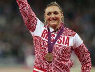 Rosjanka Jewgienia Kołodko zdobyła brązowy medal w pchnięciu kulą (fot. Getty Images)