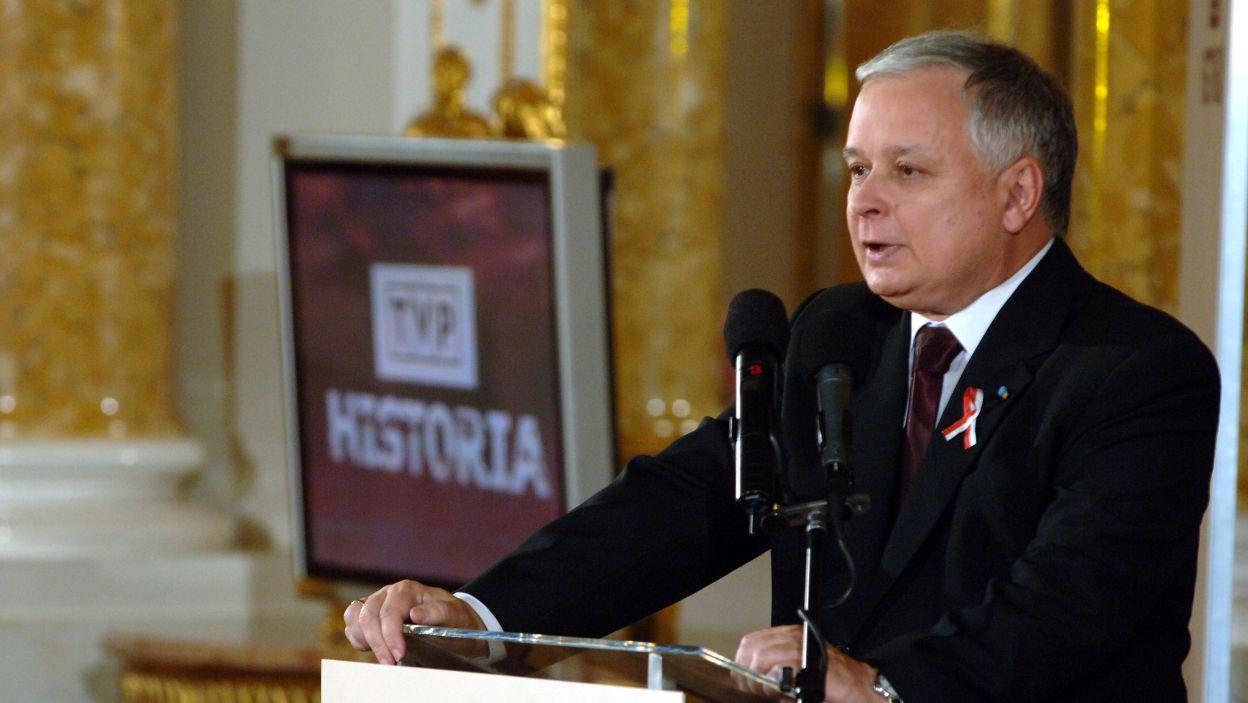 Prezydent Lech Kaczyński inauguruje powstanie anteny TVP Historia