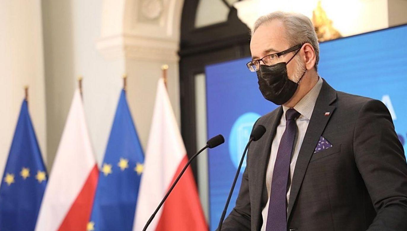 Konferencja ministra zdrowia Adama Niedzielskiego (fot. Twitter/Ministerstwo Zdrowia)