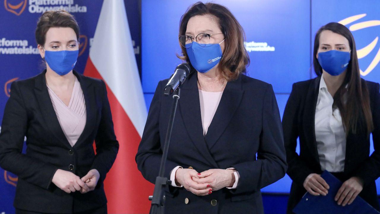 Małgorzata Kidawa-Błońska chce zmienić prawo dot. aborcji (fot. PAP/P.Supernak)