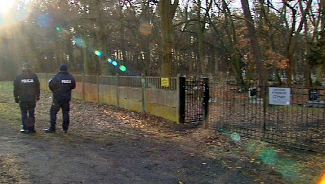 Na terenie jednej z posesji policjanci odkryli rozczłonkowane ciało kobiety (fot. TVP3 Gorzów)