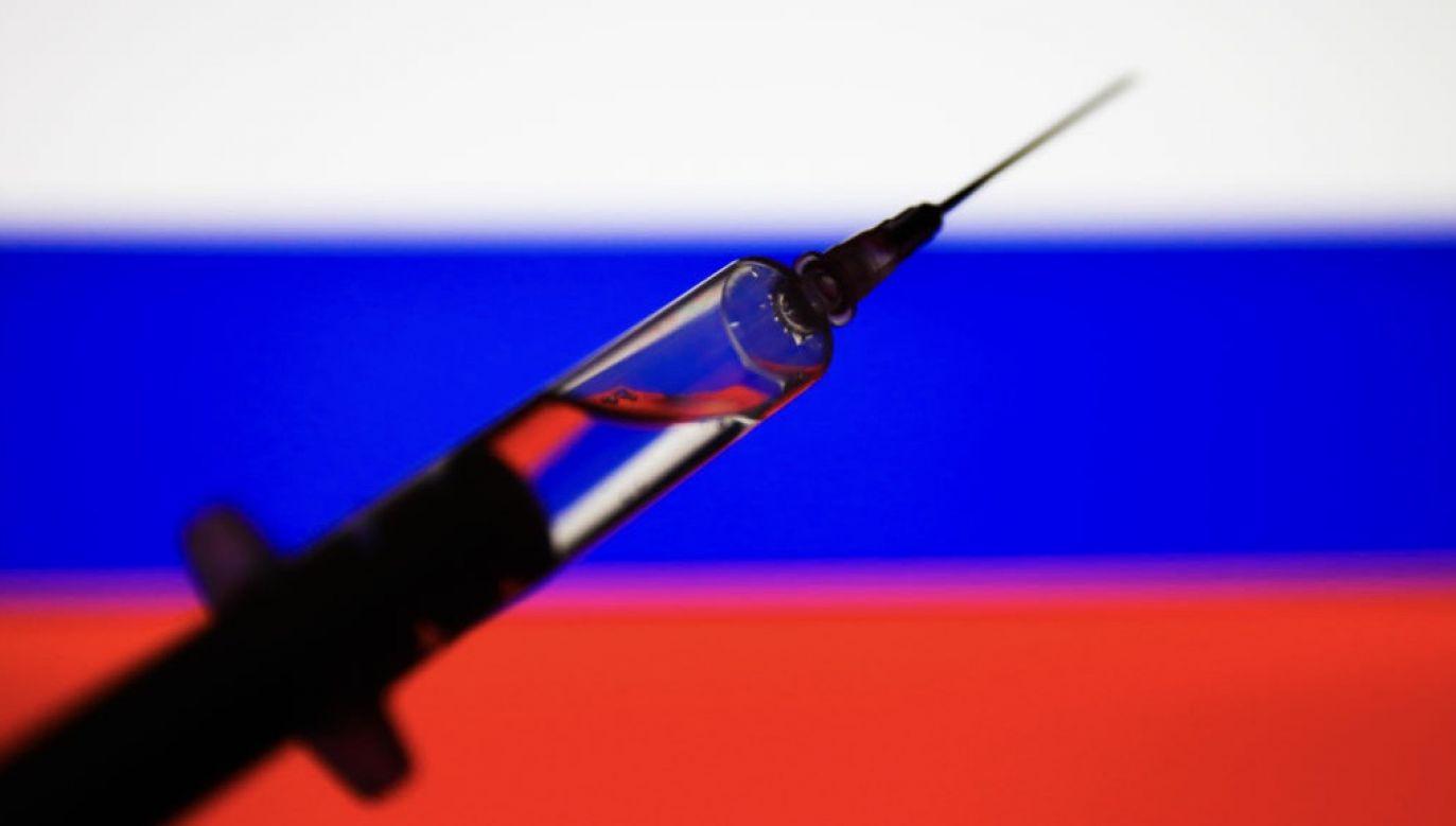 """Prezydent Władimir Putin ujawnił, że zarejestrowano szczepionkę o nazwie """"Sputnik 5"""" (fot. Jakub Porzycki/NurPhoto via Getty Images)"""
