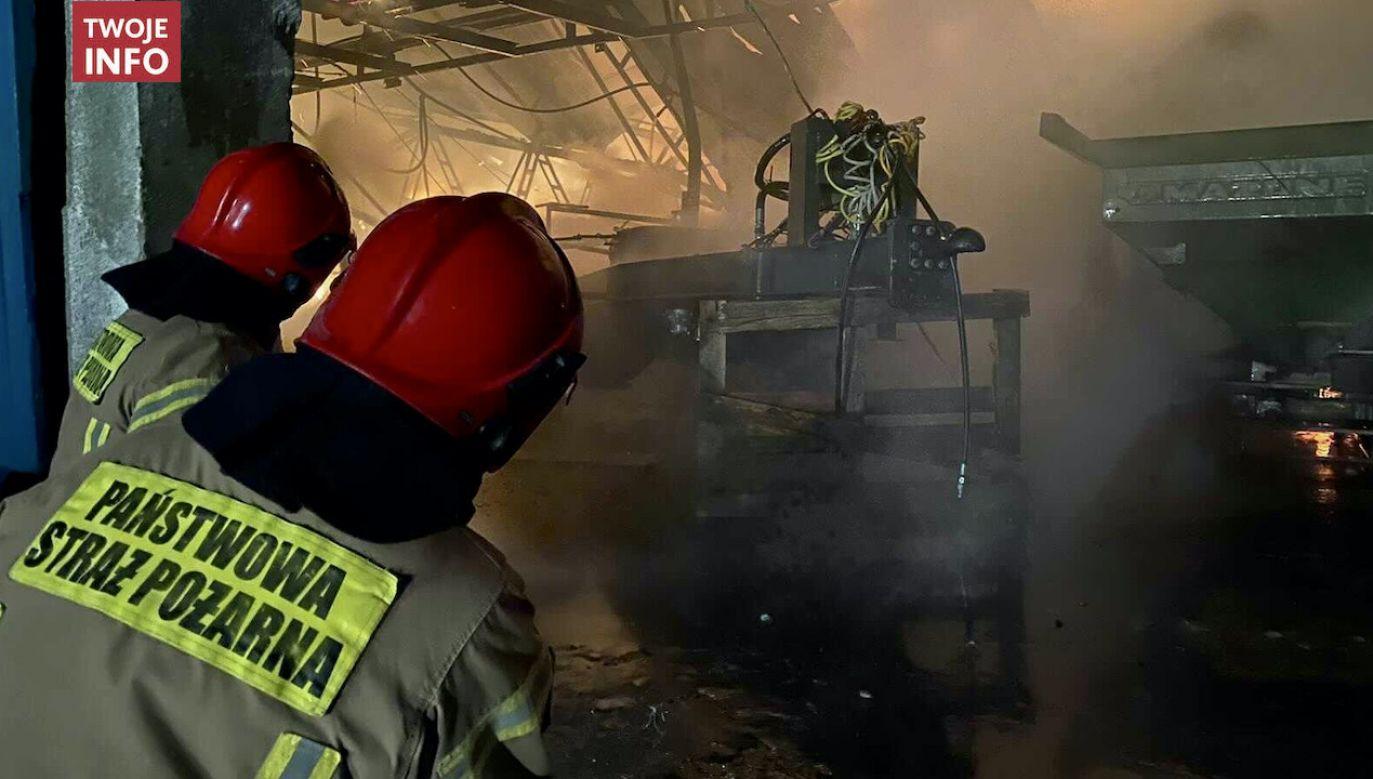 Na miejscu pracuje 19 zastępów straży pożarnej (fot. Twoje Info)
