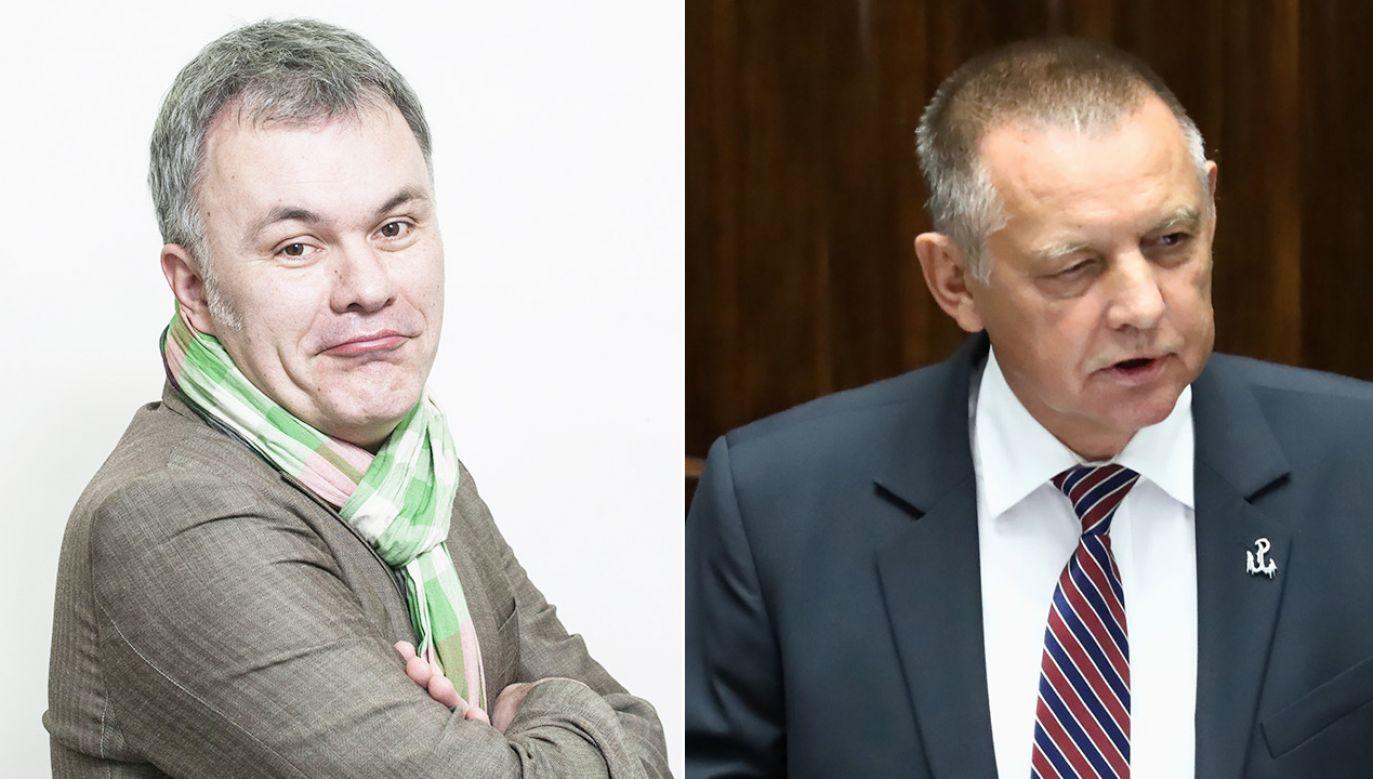 Robert Mazurek odpowiedział Marianowi Banasiowi (fot. PAP/Marcin Kaliński, Tomasz Gzell)