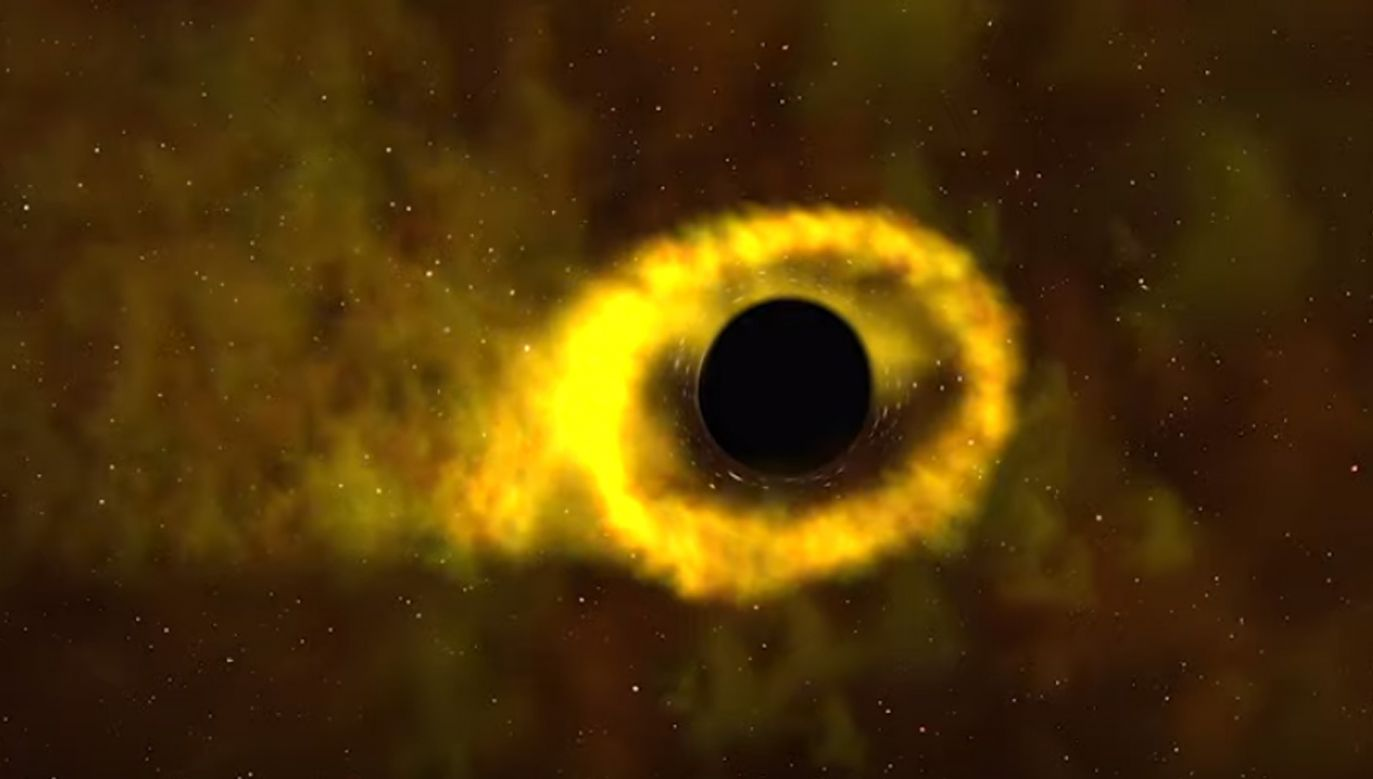 NASA zarejestrowała cały proces rozerwania gwiazdy przez czarną dziurę (fot. NASA)