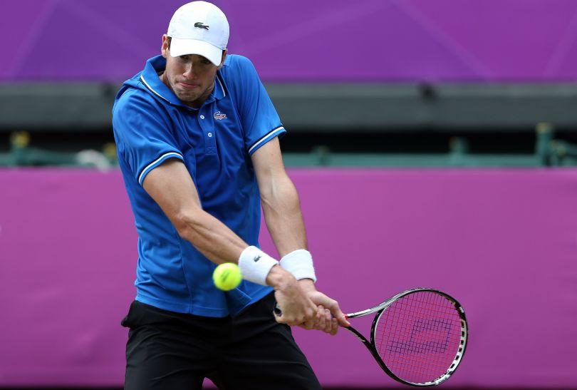 W ćwierćfinale Federer mierzył się z Johnem Isnerem z USA (fot. Getty Images)