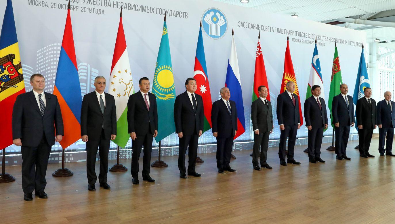 Moskwa, październik 2019, spotkanie przedstawicieli rządów Wspólnoty Niepodległych Państw. Fot. Yekaterina Shtukina\TASS via Getty Images