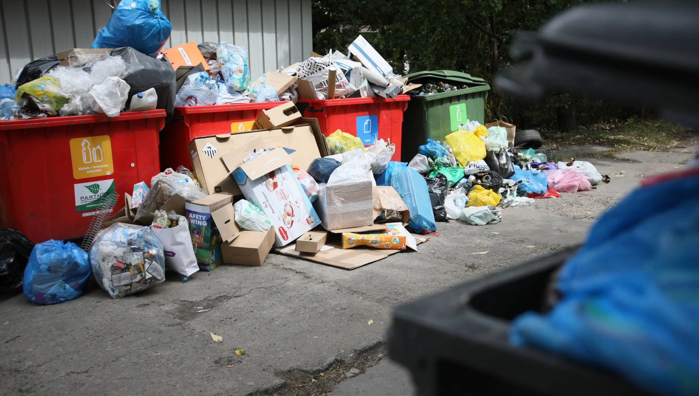 W przeszłości pracownicy MPO parkowali i po kontenery szli osobiście, teraz jednak się to zmieniło (fot. arch.PAP/Leszek Szymański, zdjęcie poglądowe)